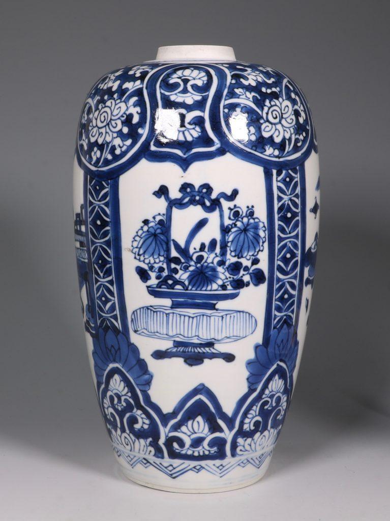 Kangxi Blue and White Ovoid Vase 17/18thC