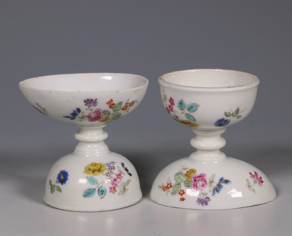 A Pair of Rare Famille Rose Egg Cups Qianlong C1750 1
