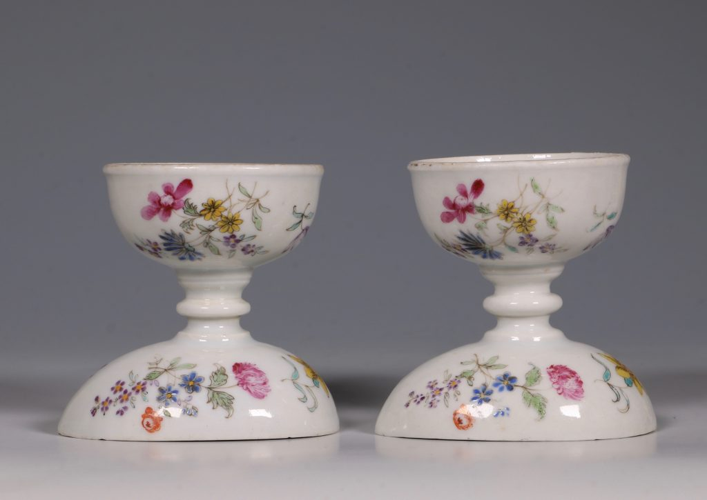 A Pair of Rare Famille Rose Egg Cups Qianlong C1750 6