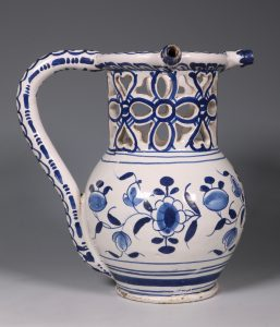 English Delft Puzzle Jug C1730/40