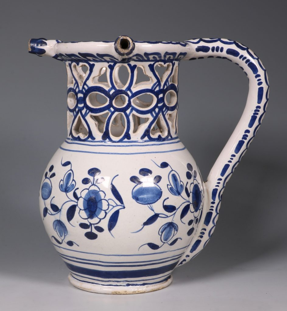 English Delft Puzzle Jug C1730/40 2