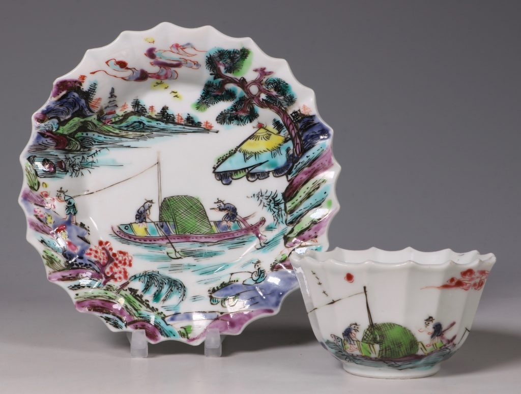 A Fine Famille Rose Tea Bowl and Saucer Yongzheng