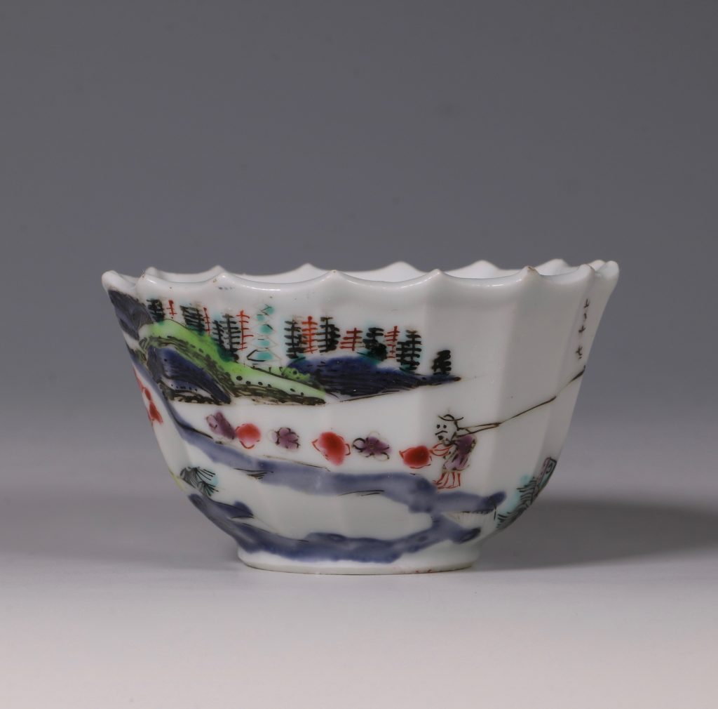 A Fine Famille Rose Tea Bowl and Saucer Yongzheng 4
