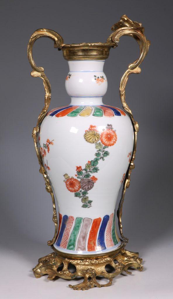 A Pair of Mounted Kangxi Famille Verte Vases 2