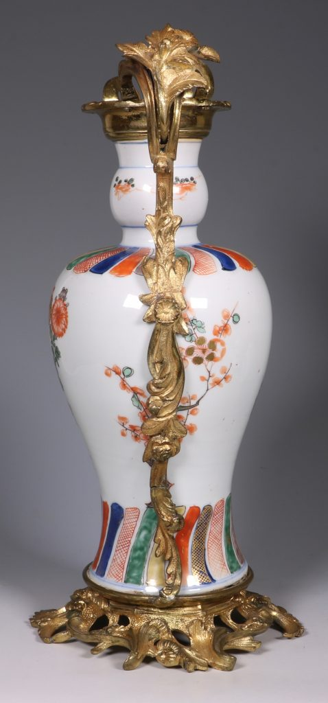 A Pair of Mounted Kangxi Famille Verte Vases 4