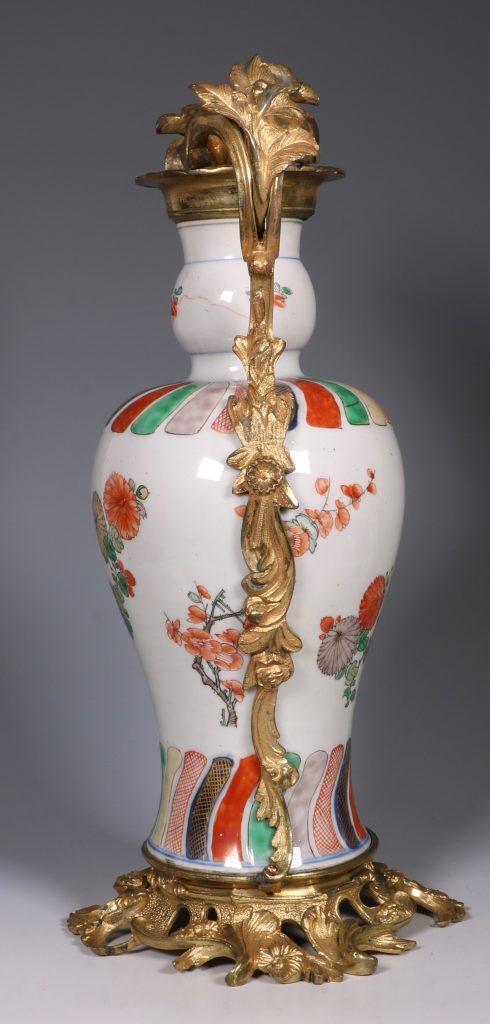 A Pair of Mounted Kangxi Famille Verte Vases 6