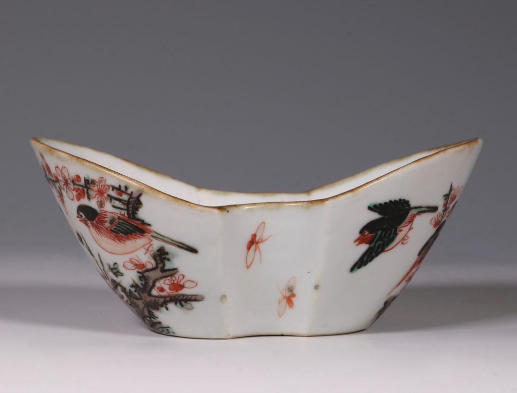 A Famille Verte Ingot Shaped Dish Kangxi 3