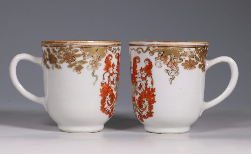 A Pair of Armorial Coffee Cups Qianlong 2