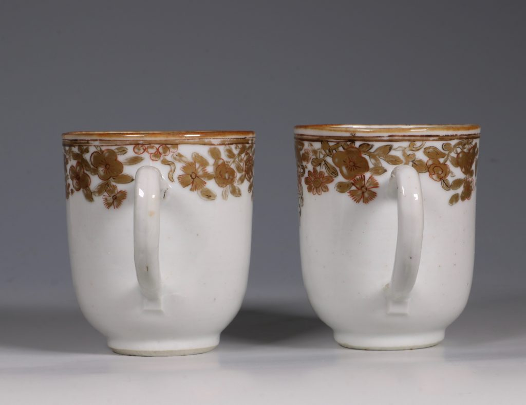 A Pair of Armorial Coffee Cups Qianlong 3