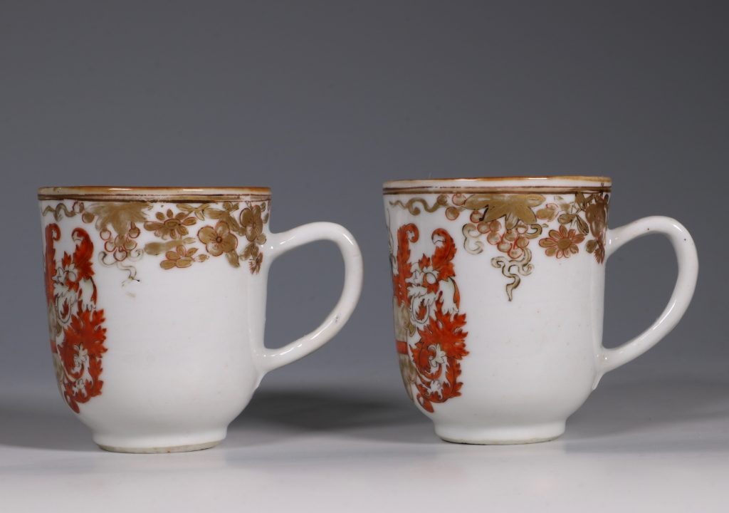 A Pair of Armorial Coffee Cups Qianlong 4