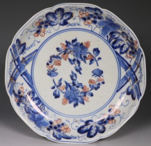 A Japanese Arita Blue and White Dish C1700