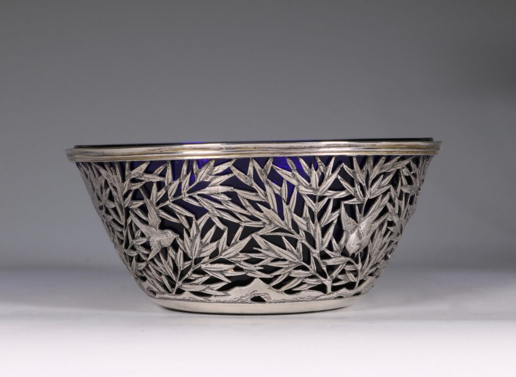 Chinese Open Work-Silver Bowl By Luen Wo C1900 4