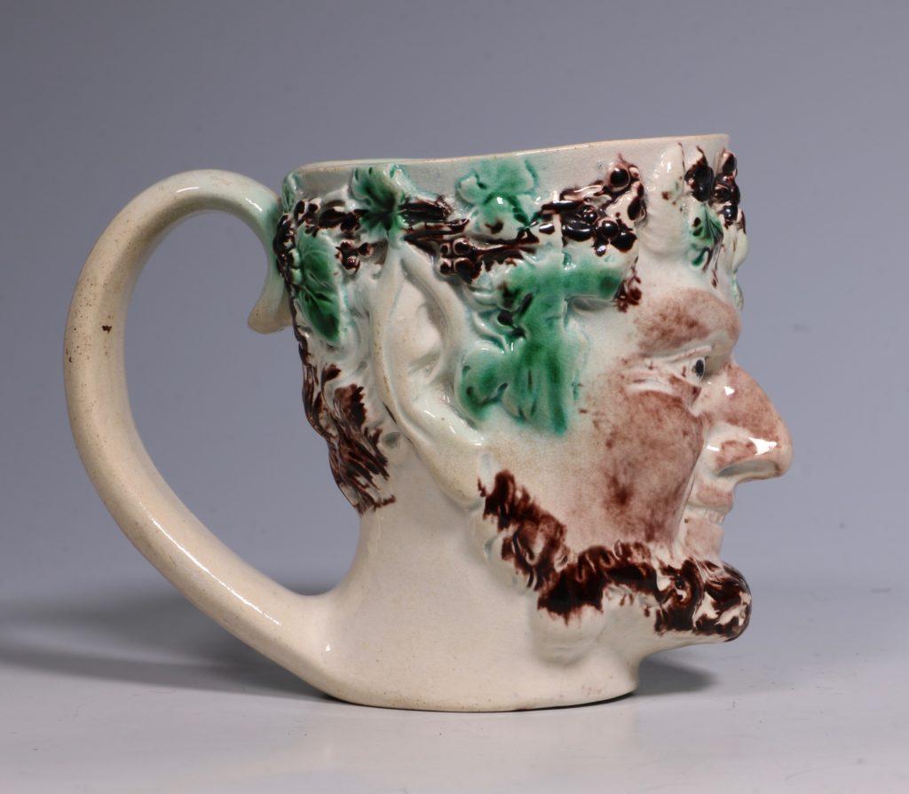 Pearlware Satyr Mug C1790 1