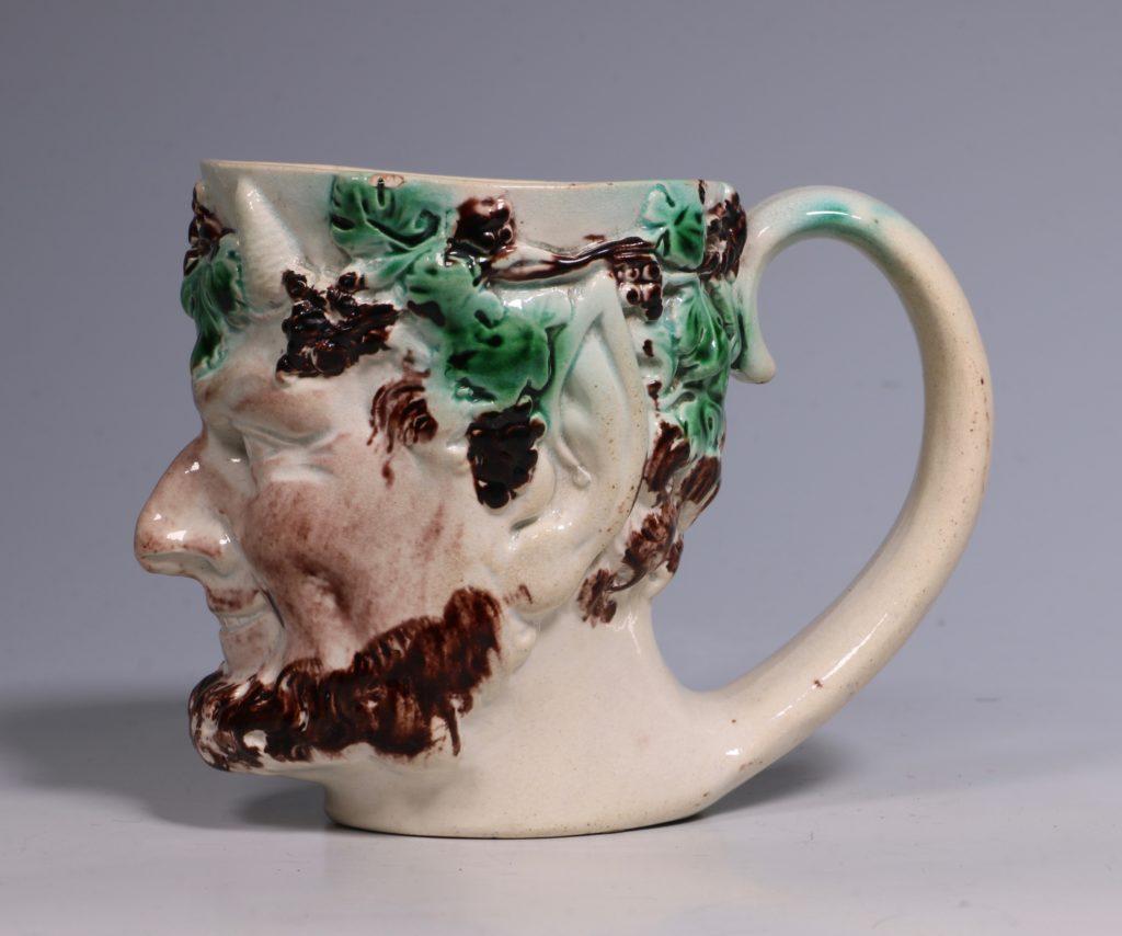Pearlware Satyr Mug C1790 3