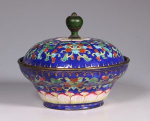 Chinese Enamel Bowl and Cover E19thC