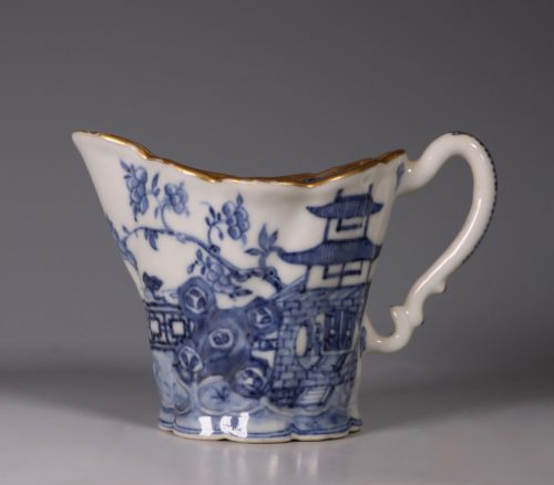 """Chinese Blue and White 'Chelsea Ewer"""" Jug C1770's"""