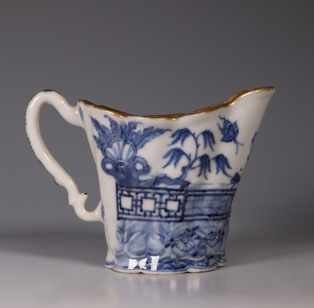 "Chinese Blue and White 'Chelsea Ewer"" Jug C1770's 2"