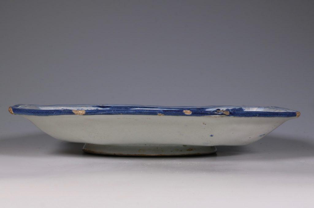 A Talevera Octagonal Dish E18thC 2