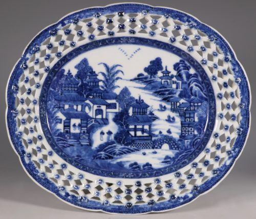 Chinese Blue and White Reticulated Dish C1770/5