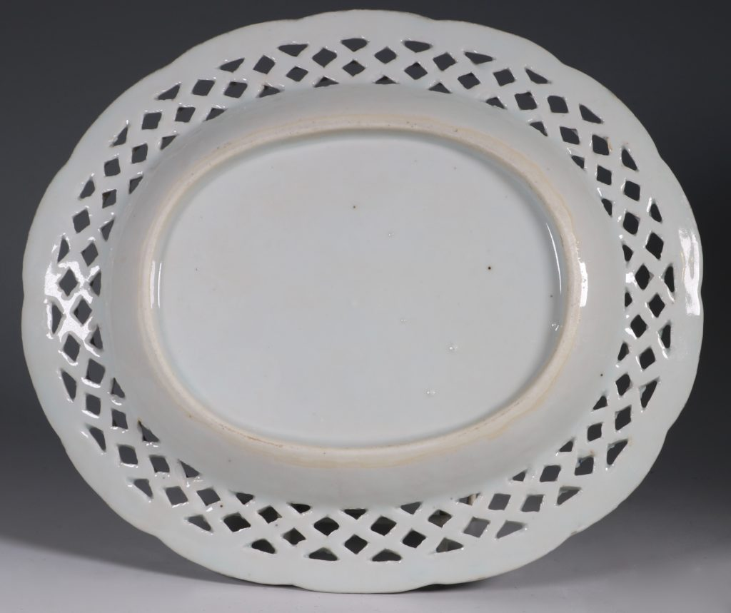 Chinese Blue and White Reticulated Dish C1770/5 2