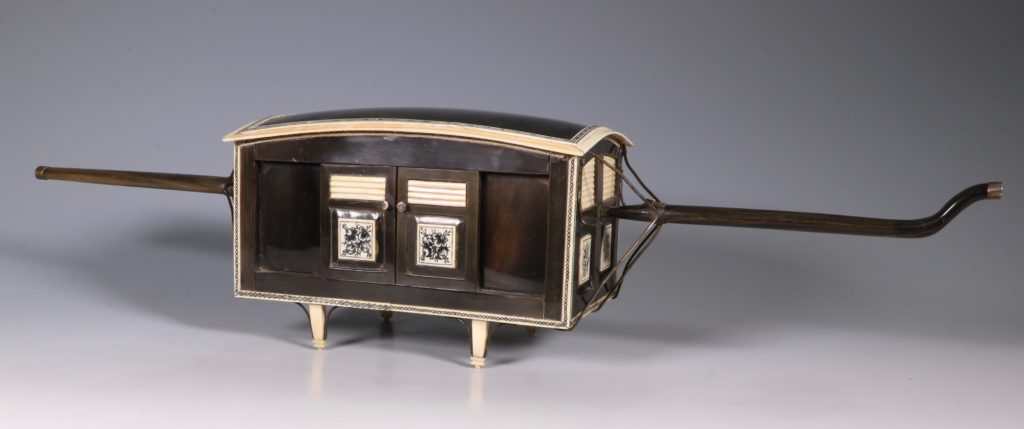 Indian Horn and Ivory Model of a Palanquin 19thC 1