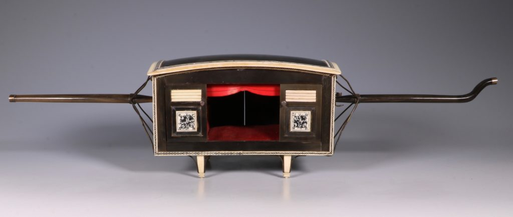 Indian Horn and Ivory Model of a Palanquin 19thC 2