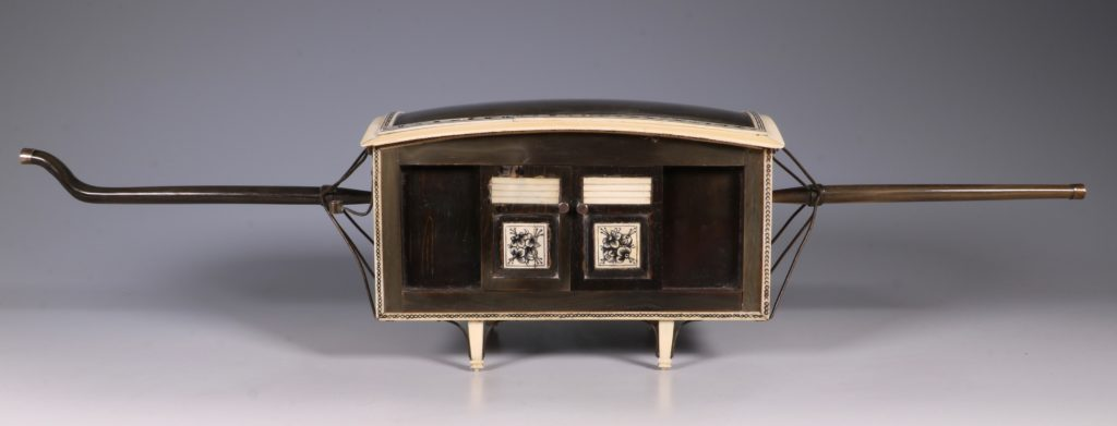 Indian Horn and Ivory Model of a Palanquin 19thC 4