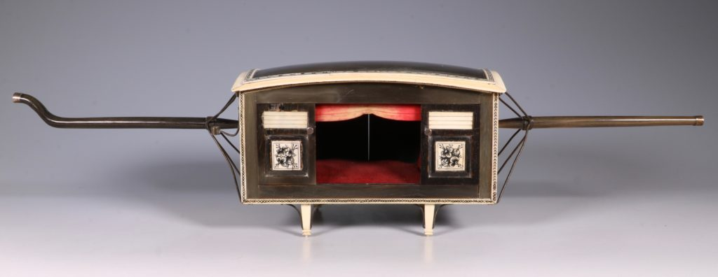 Indian Horn and Ivory Model of a Palanquin 19thC 5