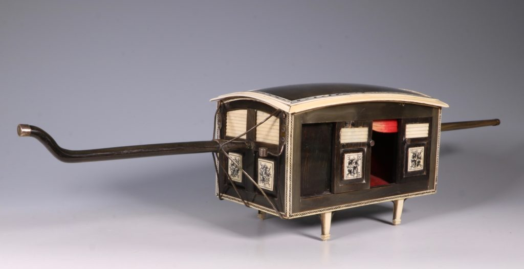 Indian Horn and Ivory Model of a Palanquin 19thC 6
