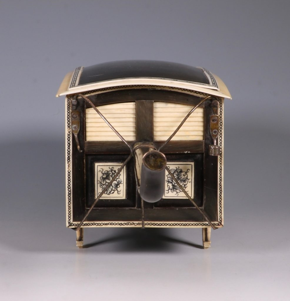 Indian Horn and Ivory Model of a Palanquin 19thC 7