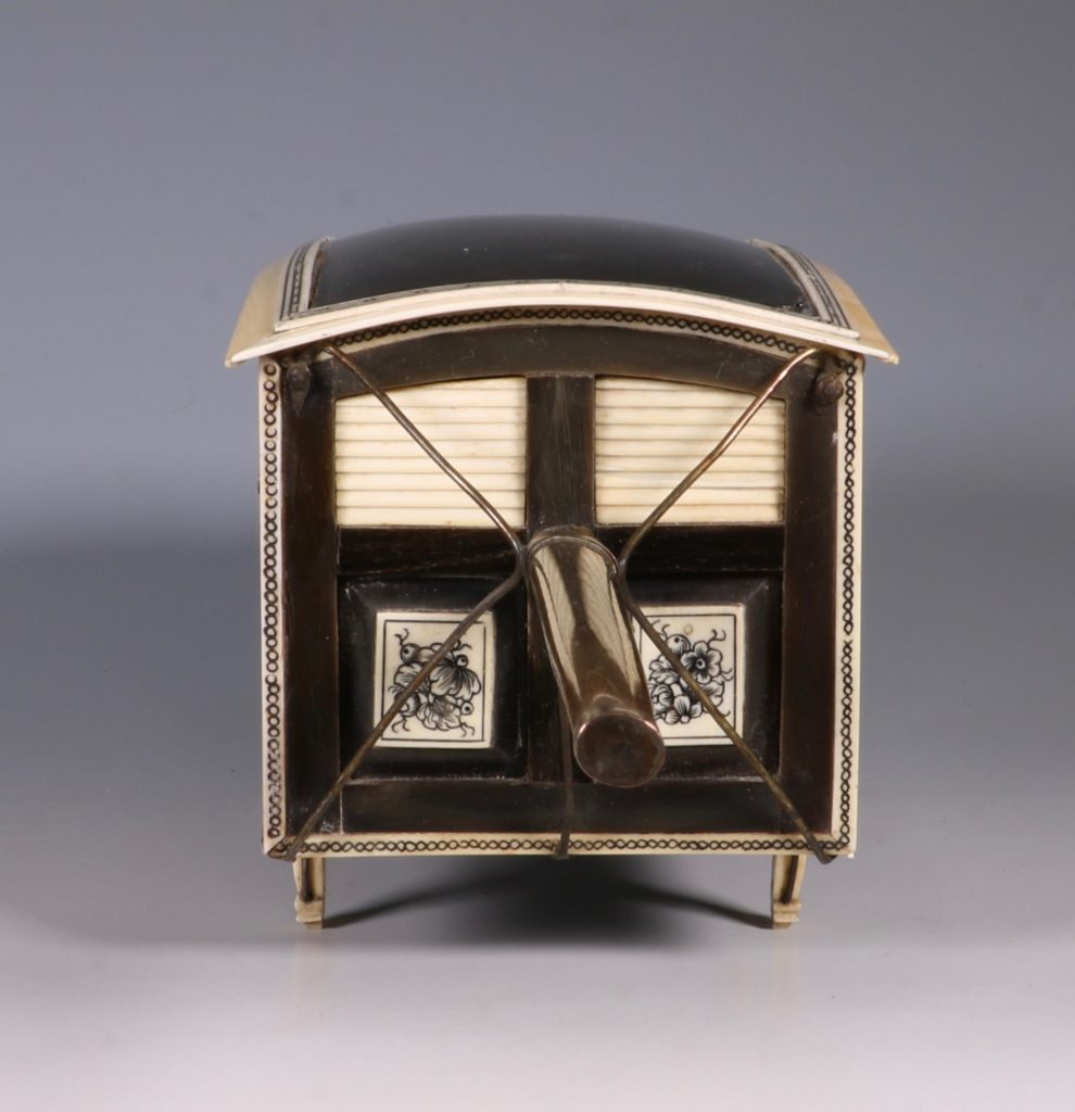 Indian Horn and Ivory Model of a Palanquin 19thC 8