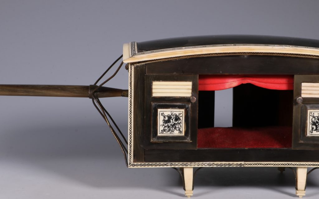 Indian Horn and Ivory Model of a Palanquin 19thC 10