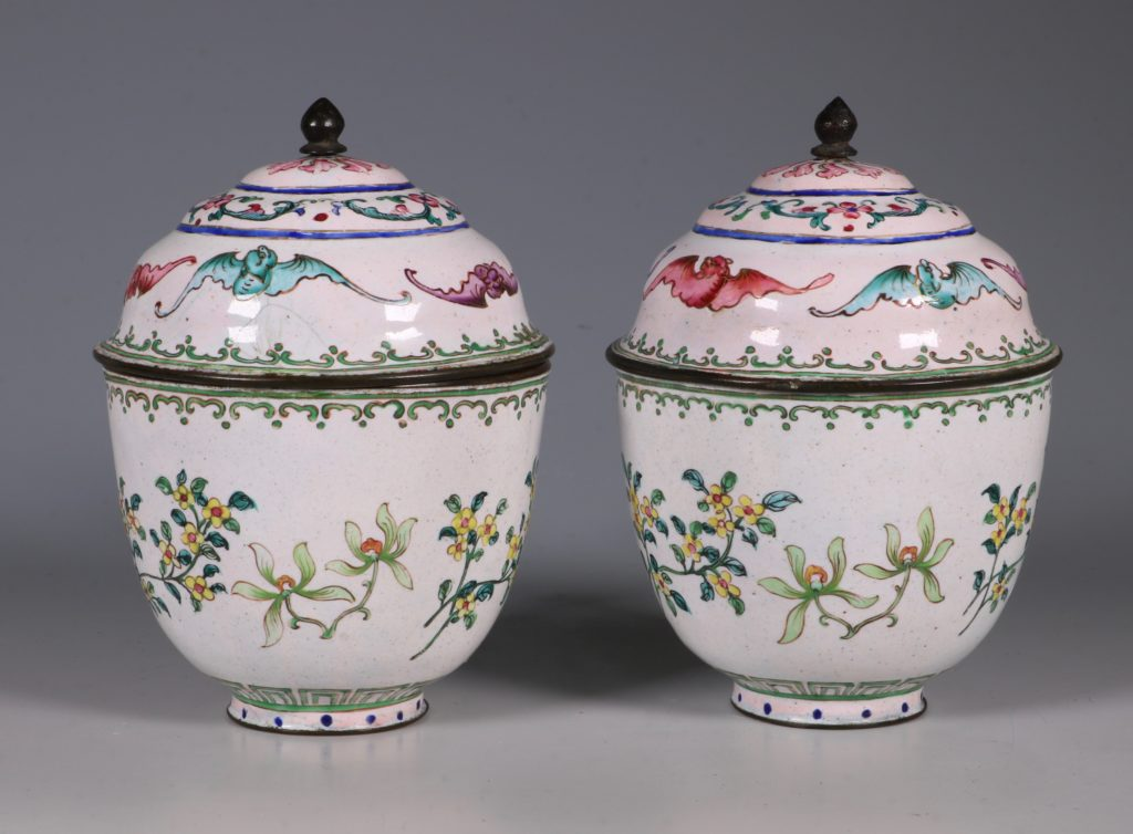 A Pair of Chinese Enamel Covered Cups 19thC 2
