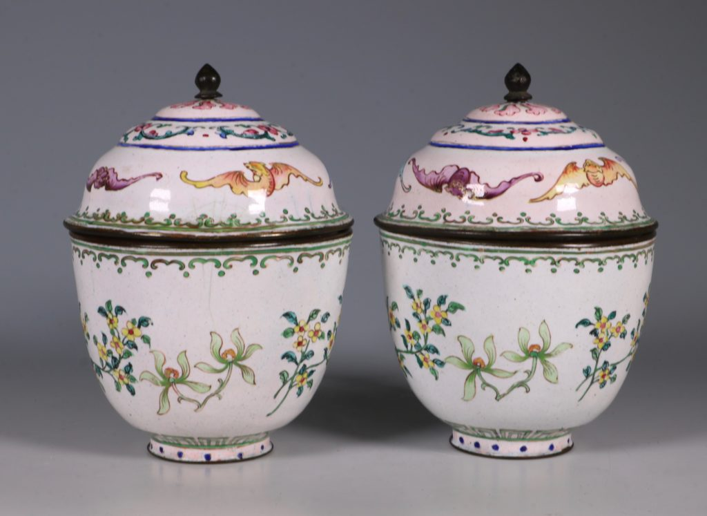 A Pair of Chinese Enamel Covered Cups 19thC 4