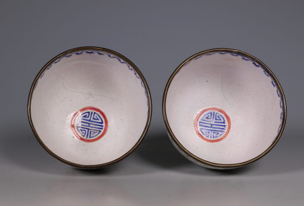 A Pair of Chinese Enamel Covered Cups 19thC 5