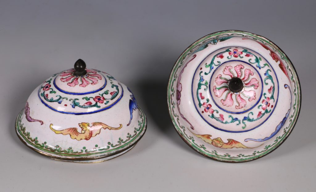 A Pair of Chinese Enamel Covered Cups 19thC 7