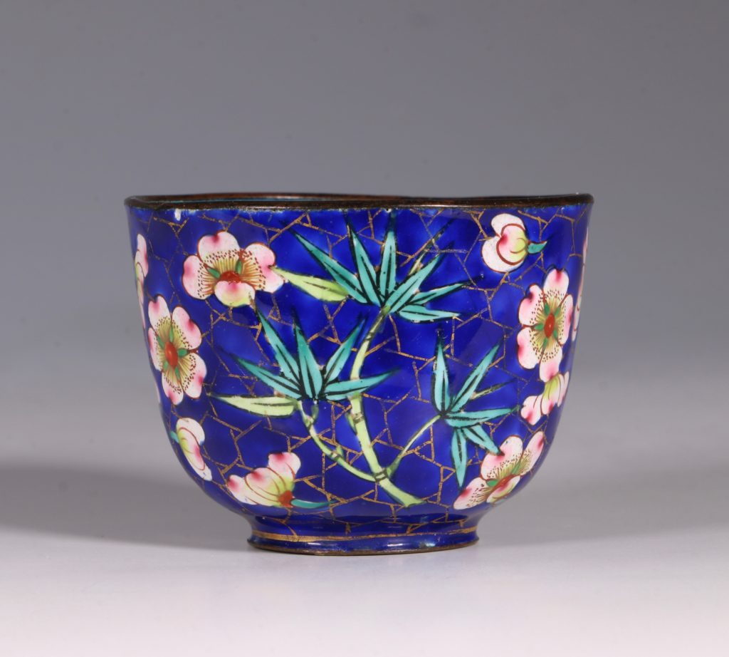 Chinese Canton Enamel Tea Bowl and Saucer E19thC 5