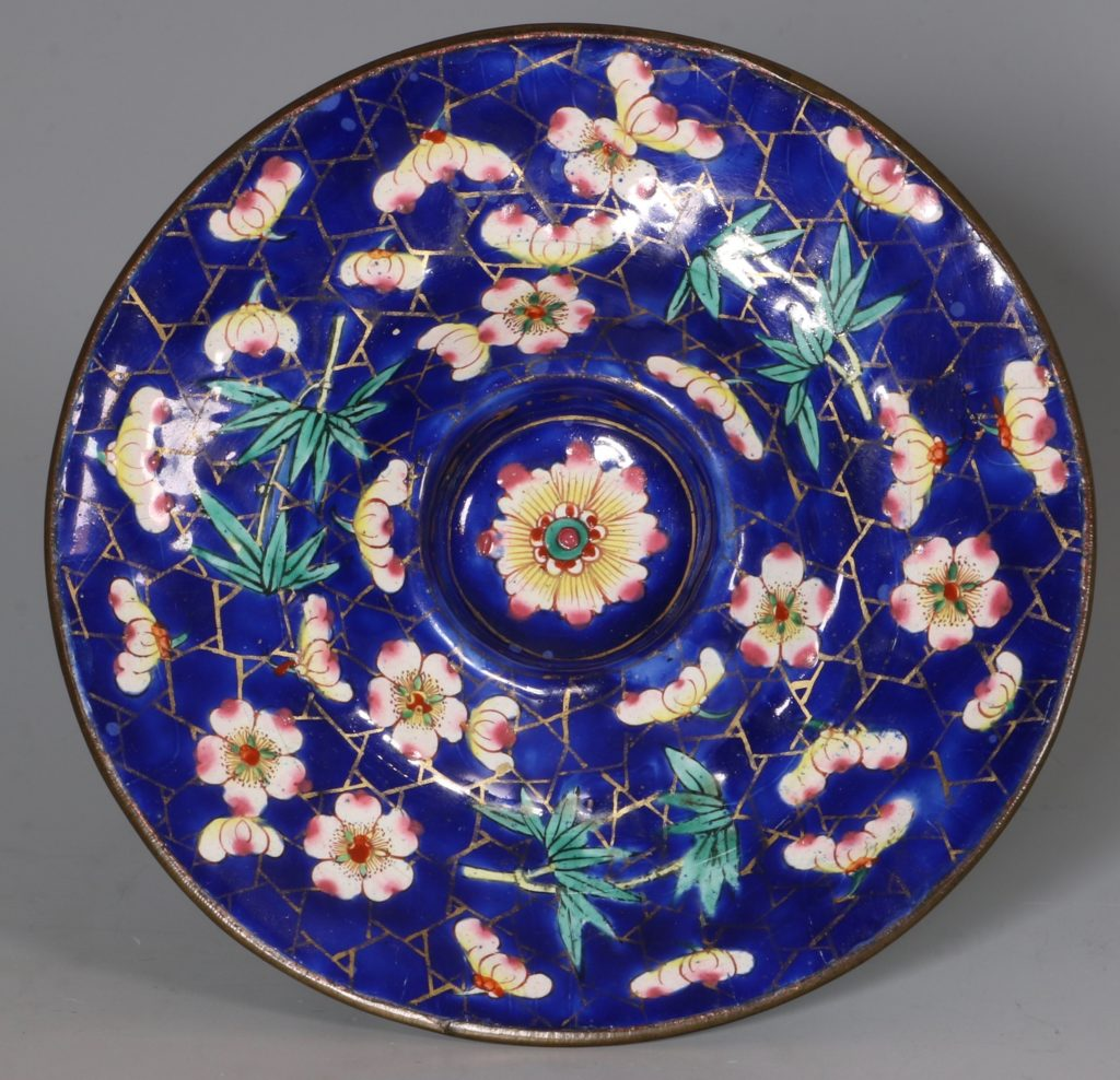 Chinese Canton Enamel Tea Bowl and Saucer E19thC 2