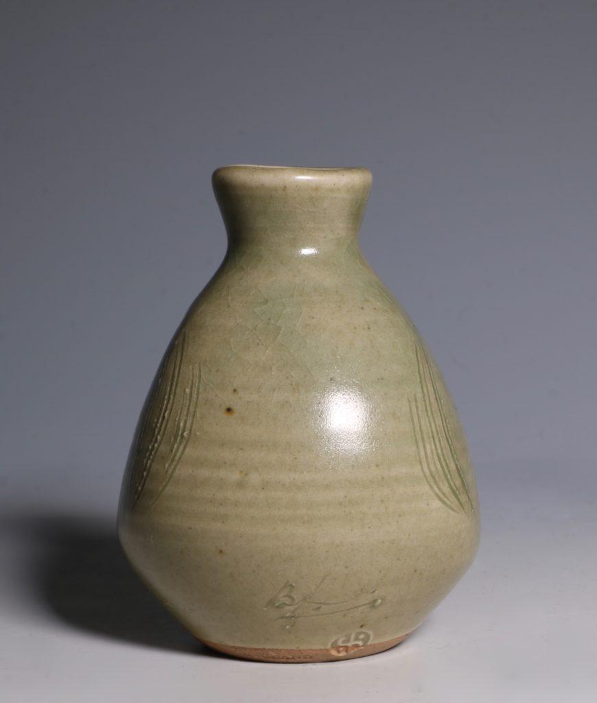 Bernard Leach Carved Celadon Vase 2