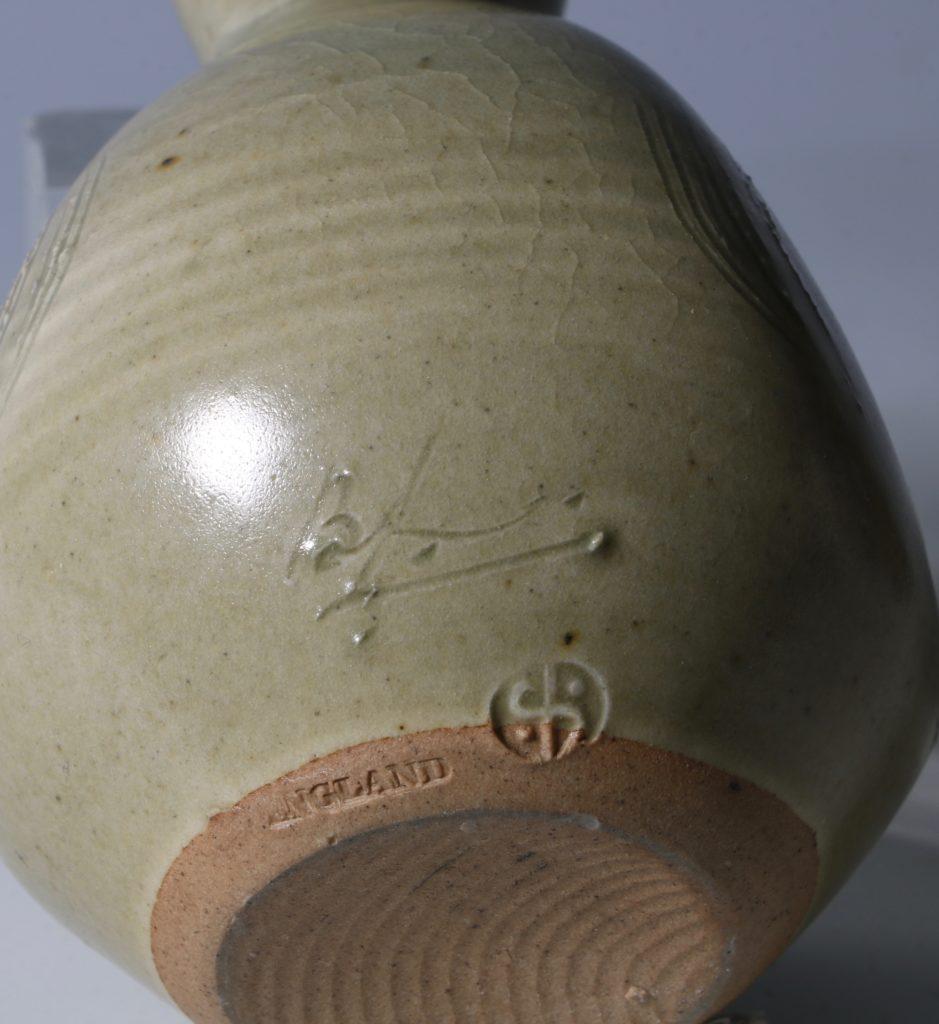 Bernard Leach Carved Celadon Vase 4