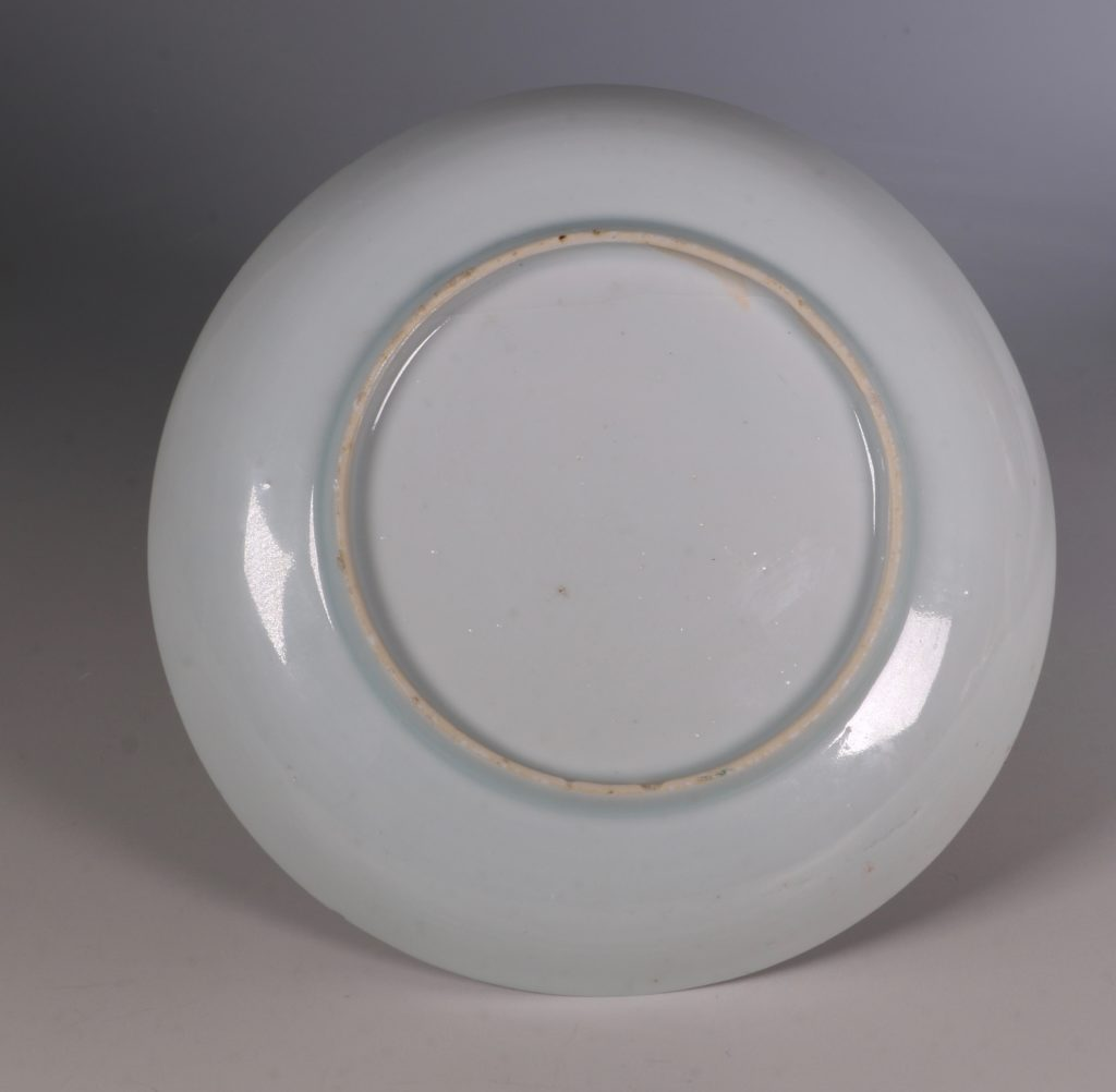 Dutch Decorated Chinese Beaker and Saucer E18thC 2