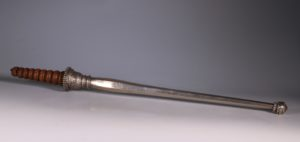 An Mughal Indian Silver Fly Whisk Handle 19thC