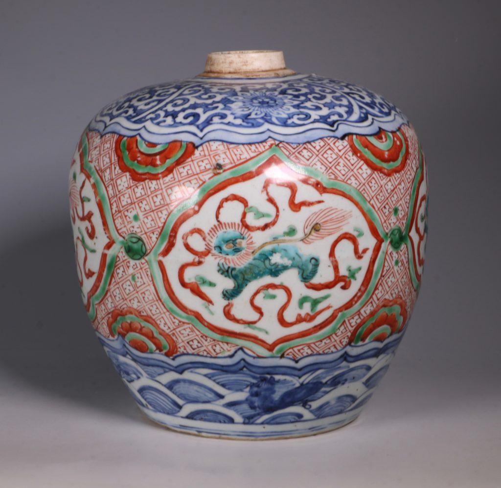 Chinese Polychrome Jar 16thC 2