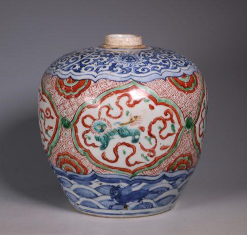 Chinese Polychrome Jar 16thC