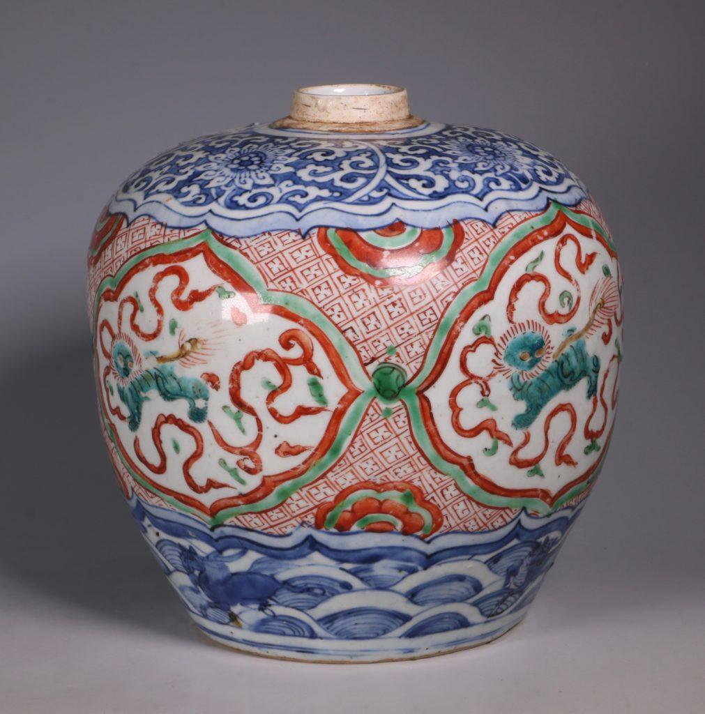 Chinese Polychrome Jar 16thC 6
