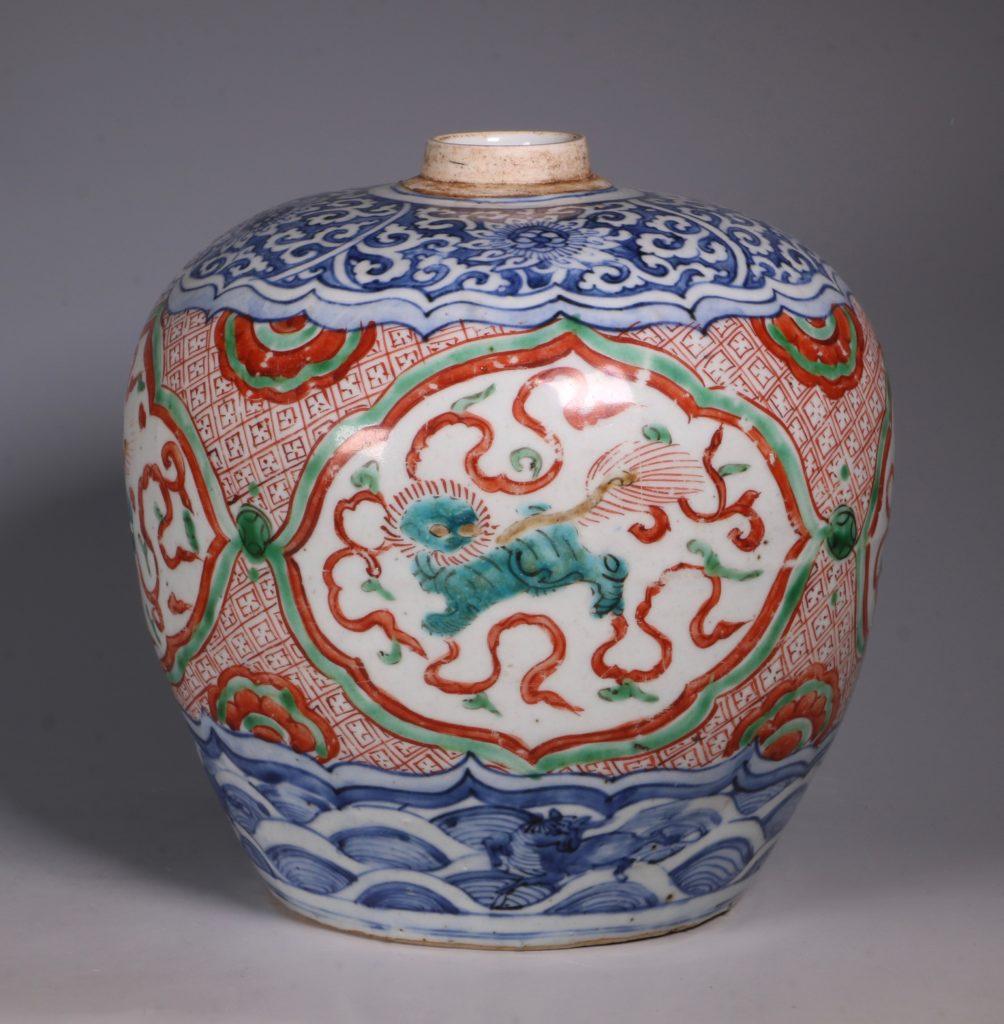 Chinese Polychrome Jar 16thC 7