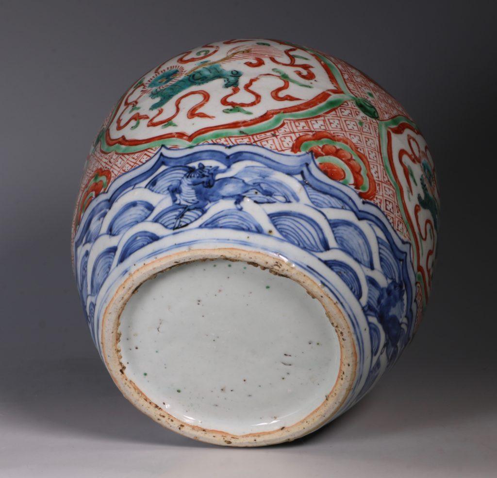 Chinese Polychrome Jar 16thC 9