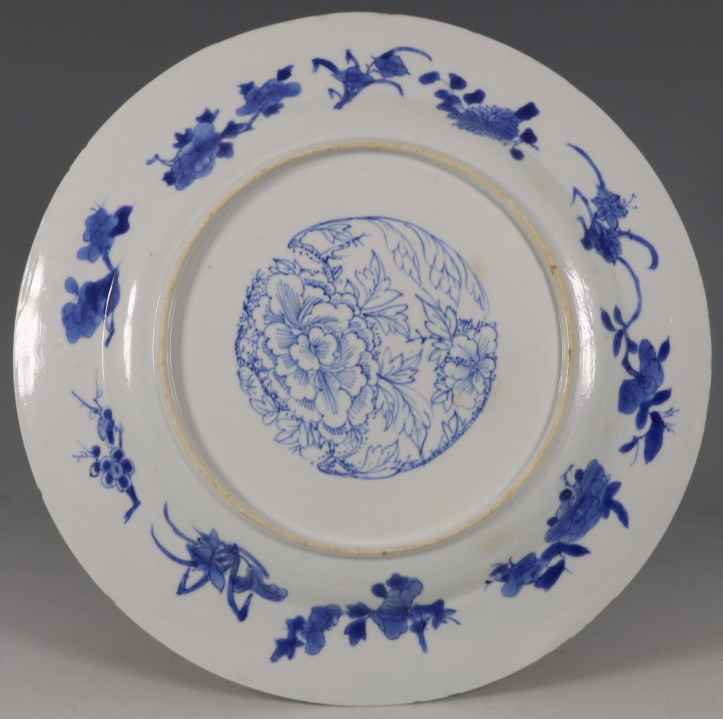An Unusual Chinese Blue and White Plate Kangxi C1700 2