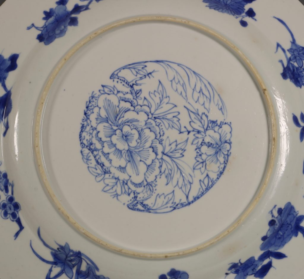 An Unusual Chinese Blue and White Plate Kangxi C1700 3