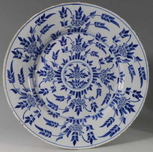 Mimosa Pattern Delft Charger London 1750